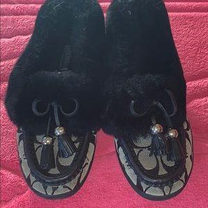 Coach Fiona fur moccasin slipper 7
